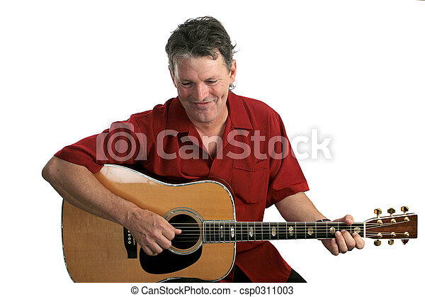 Folk Singer Amused - csp0311003