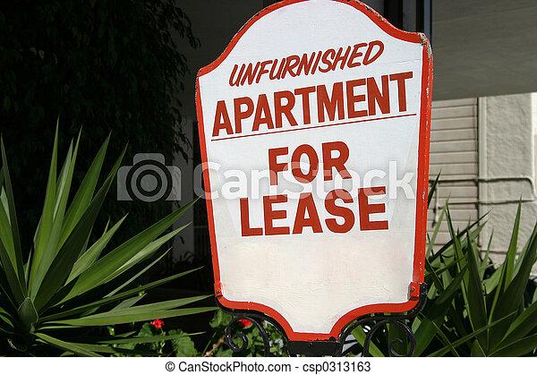 Apartment Lease Sign - csp0313163