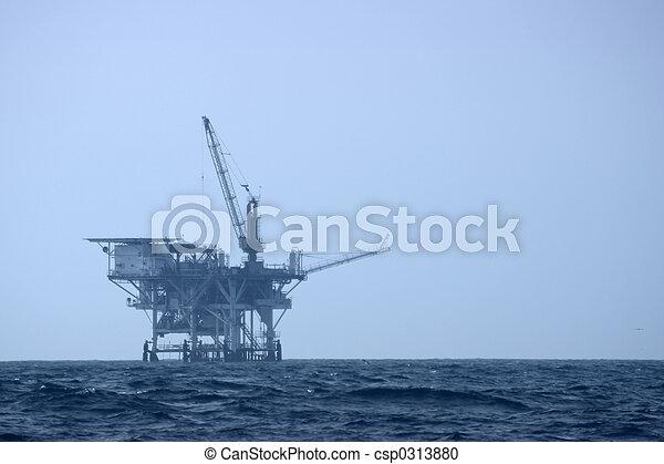Offshore Drilling Platform - csp0313880