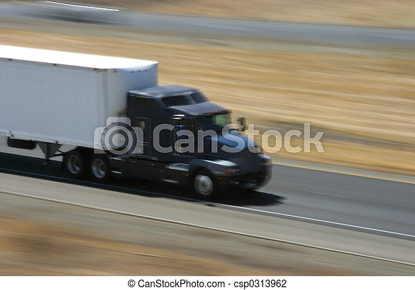 Speeding Truck 1 - csp0313962
