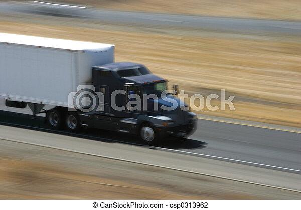 Speeding Truck 1 - csp0313962