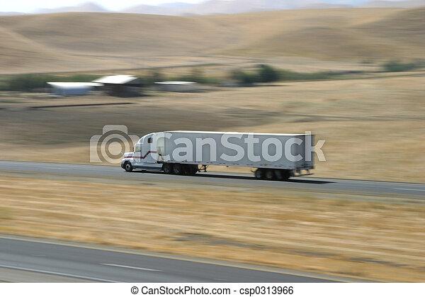 Speeding Truck 1 - csp0313966