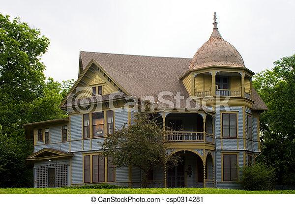 stock fotografie von gotische viktorianische stil haus csp0314281 suchen sie stock fotos. Black Bedroom Furniture Sets. Home Design Ideas