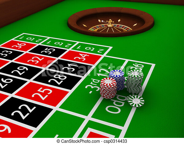 Gambling chips - csp0314433