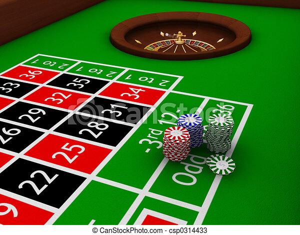 Gambling chips - csp0314433
