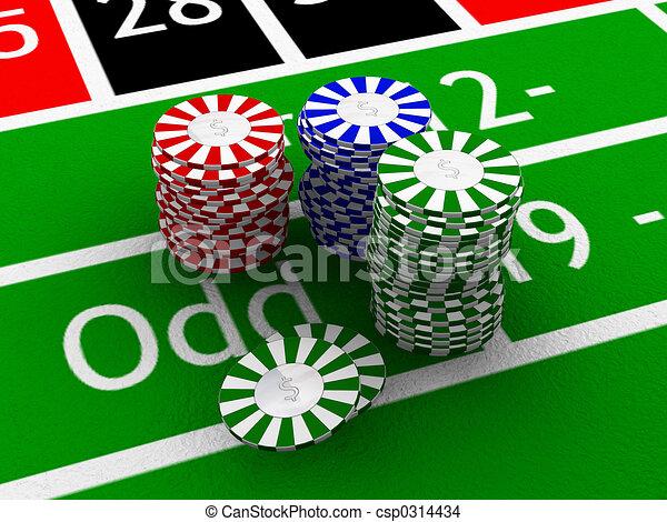 Gambling chips - csp0314434