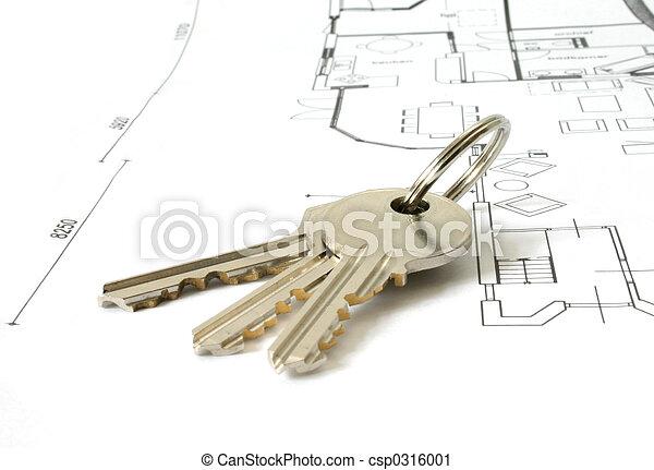 keys on an architecture-plan - csp0316001