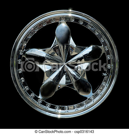 Titanium car rim texture isolated - csp0316143
