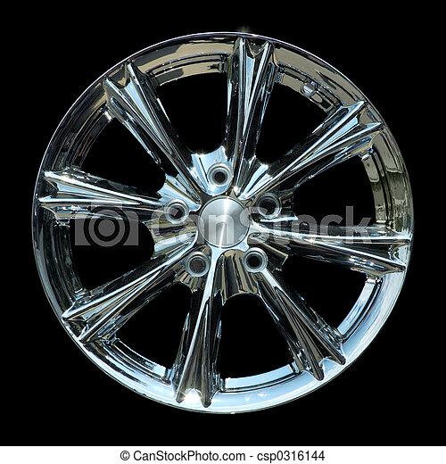 Titanium car rim texture isolated - csp0316144
