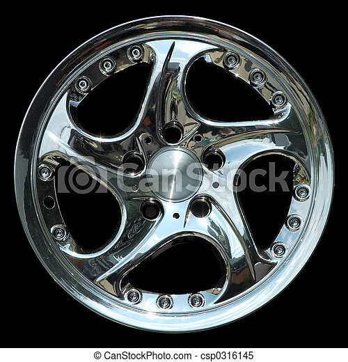 Titanium car rim texture isolated - csp0316145