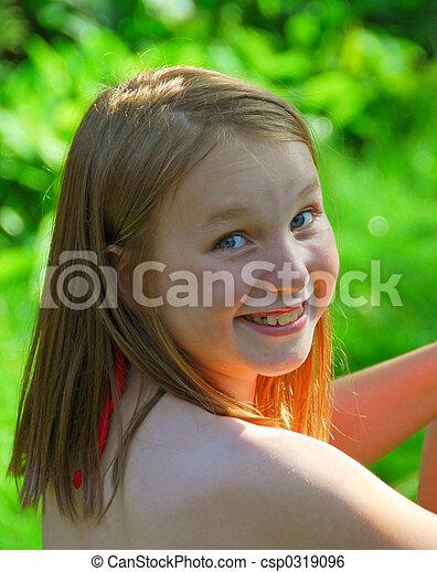 Girl child summer - csp0319096
