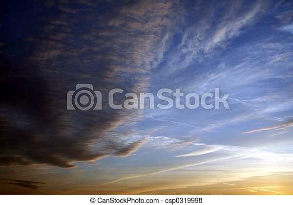 nube, Plano de fondo - csp0319998