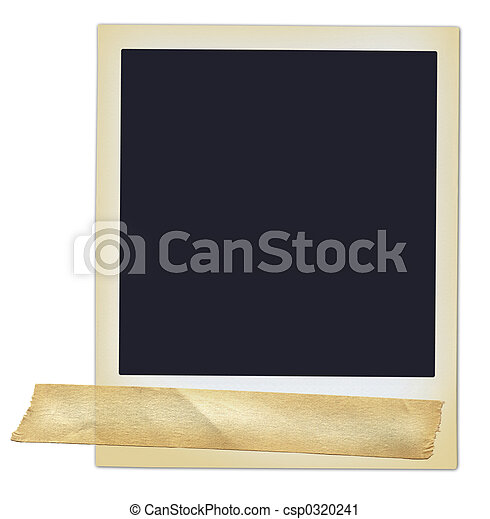 Polaroid with Tape - csp0320241