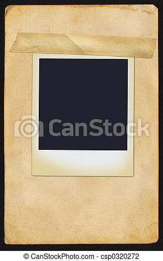 Polaroid on Page - csp0320272