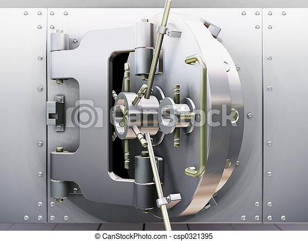 gewölbe, bank - csp0321395