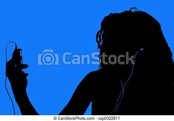Silhouette Teen - csp0322811