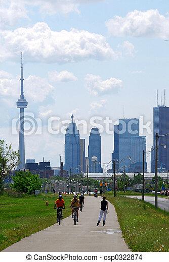 Toronto city skyline - csp0322874