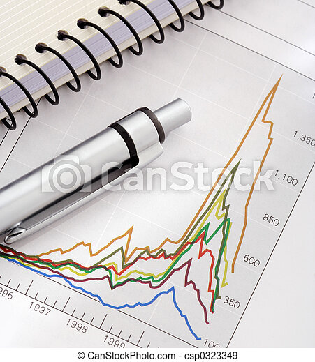 Pen and Notebook on Graph - csp0323349