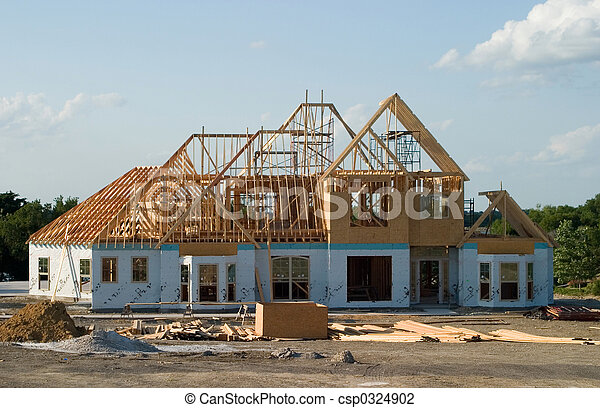 Large House Under Construction - csp0324902