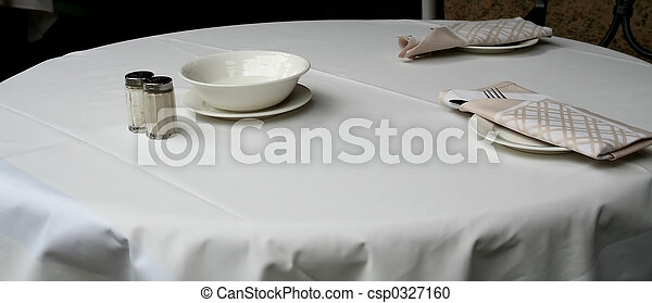 Modern place setting, dining table