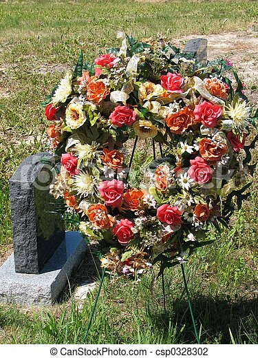 Grave site wreath - csp0328302