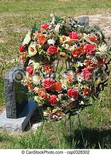 Grave site wreath - csp0328302