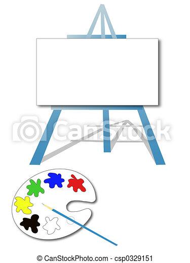 Art easel - csp0329151