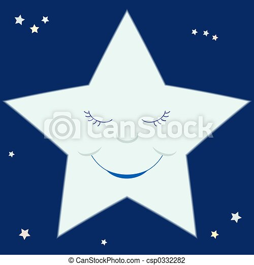estrella, caricatura - csp0332282