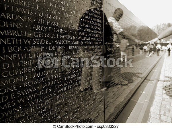 Vietnam war memorial - csp0333227