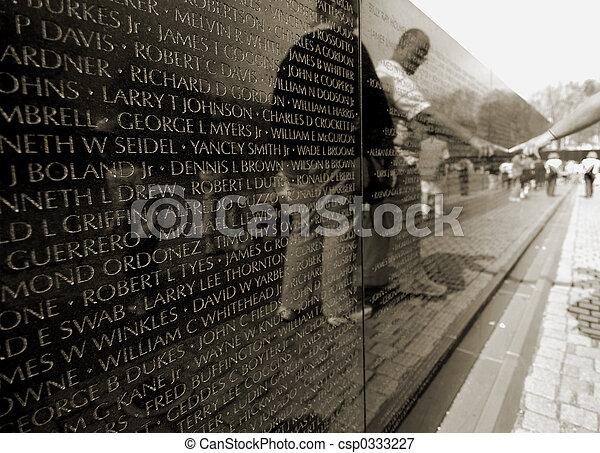 Vietnam war memorial - csp0333227