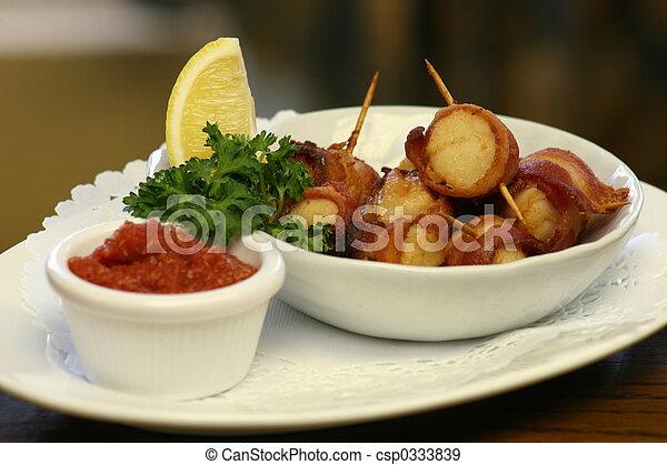 Bacon & Scallops - csp0333839