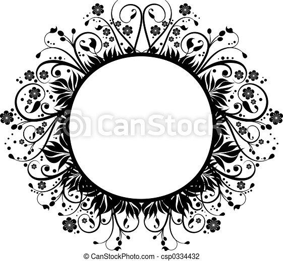 Clip Art of Decorative border - Hand drawn decorative border ...