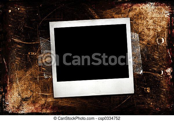 Grunge Polaroid - csp0334752