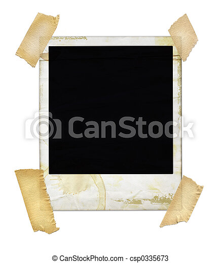 Aged Polaroid with Tape - csp0335673