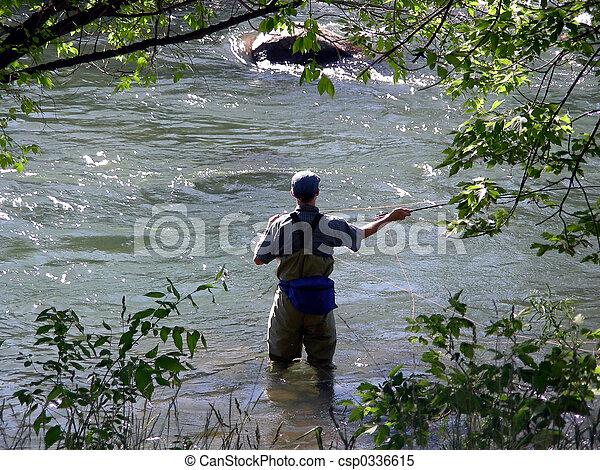 Fly Fisherman - csp0336615