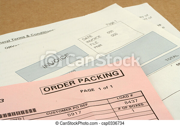 invoices for received package