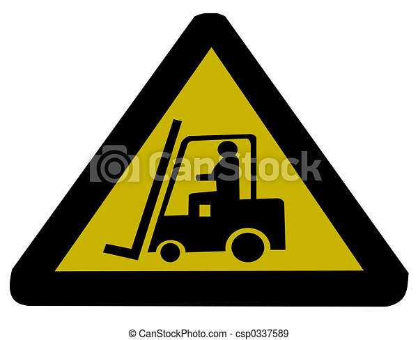 Forklift truck sign illustration - csp0337589
