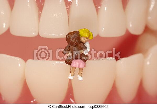 dentaire, pédiatrique - csp0338608