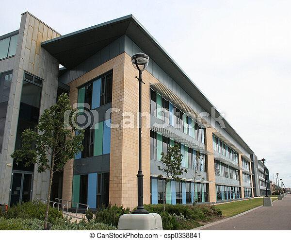 bâtiment, monter, bas, bureau - csp0338841
