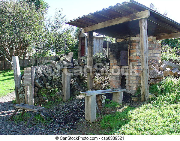 Stock Photography Of Outdoor Cooking Shed A Replica Of