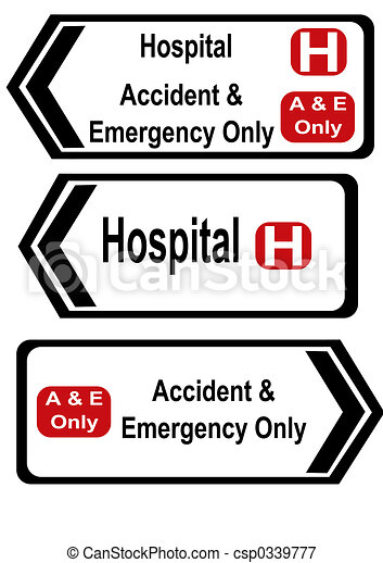 accident and emergency signs - csp0339777