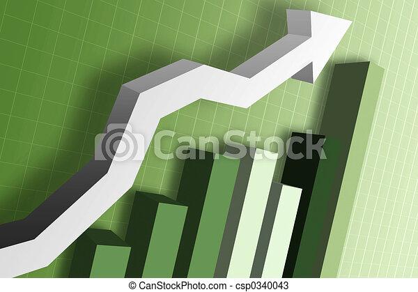 soldi, grafico, mercato - csp0340043