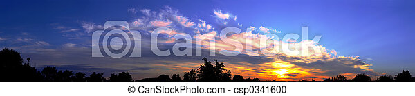 Panorama sunrise - csp0341600
