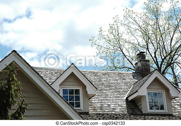 Cedar Shingle Rooftop - csp0342133