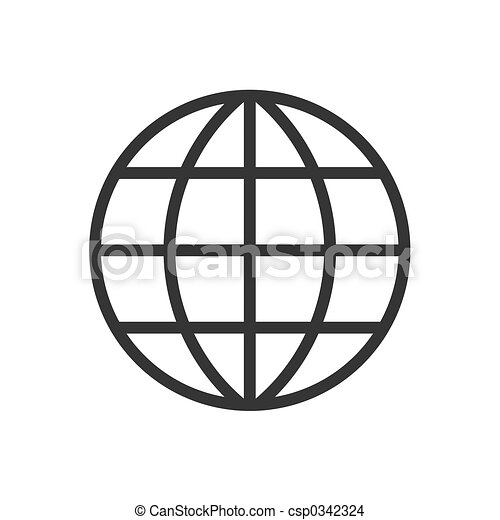 Drawing of Globe - 2d globe pictogram csp0342324 - Search Clip Art ...