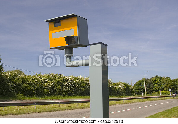 Road and speed camera - csp0342918