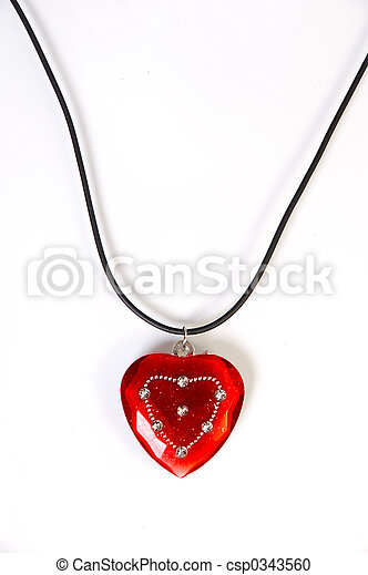 Heart shaped necklace - csp0343560