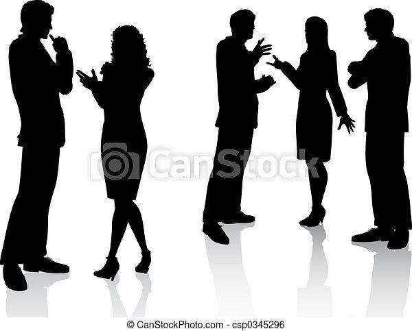 Business conversations - csp0345296