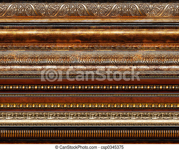 Antique rustic decorative frame patterns - csp0345375