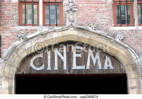Old cinema sign - csp0345674